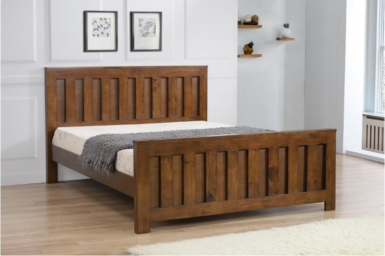 rustic oak bed sams beds